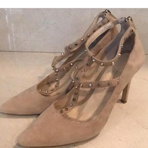 Banana republic heels with studded t-strap